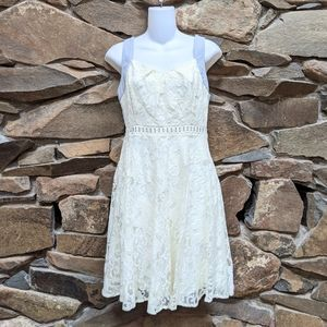 NWOT RYU Anthropologie Lace Chambray Dress Small